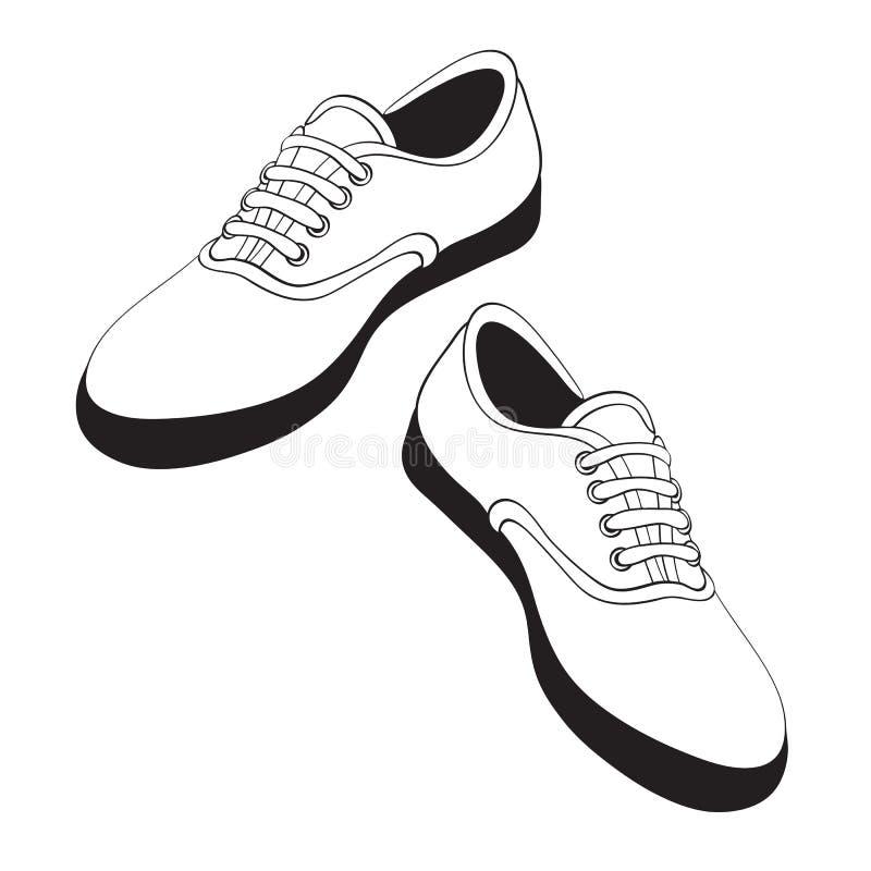 sport de chaussures illustration libre de droits