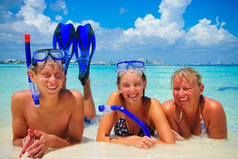Sport de famille photographie stock libre de droits