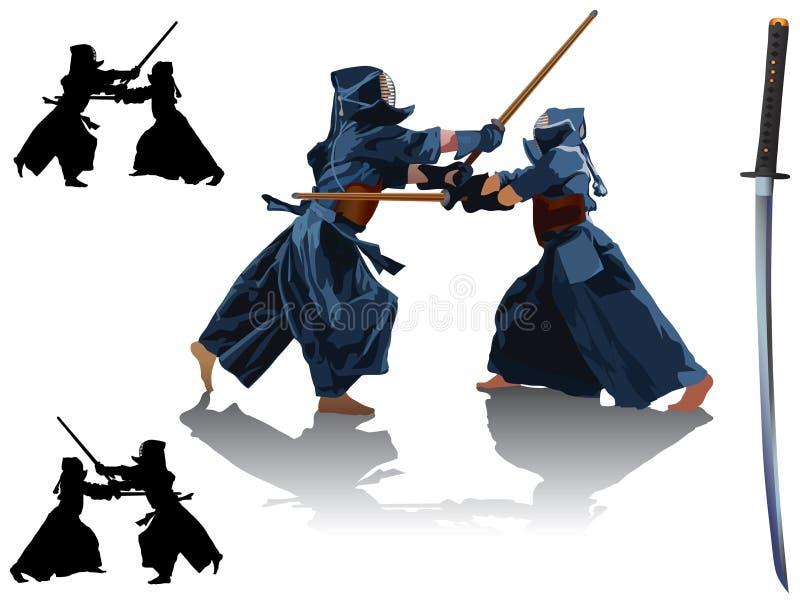 Sport de Kendo illustration de vecteur
