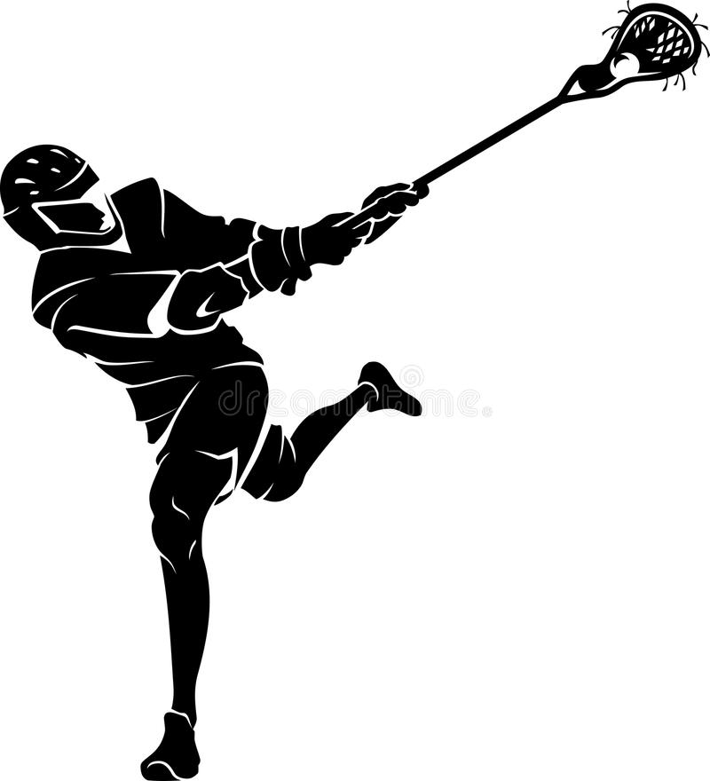 Sport de lacrosse illustration libre de droits