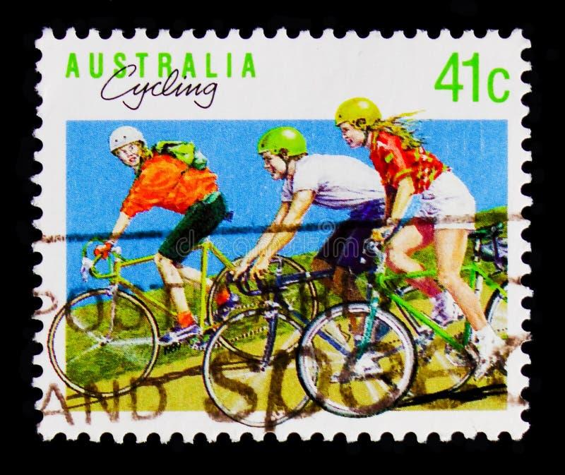 Sport de recyclage, serie de sports, vers 1989 photographie stock libre de droits
