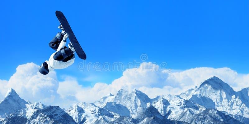 Sport de snowboarding photographie stock