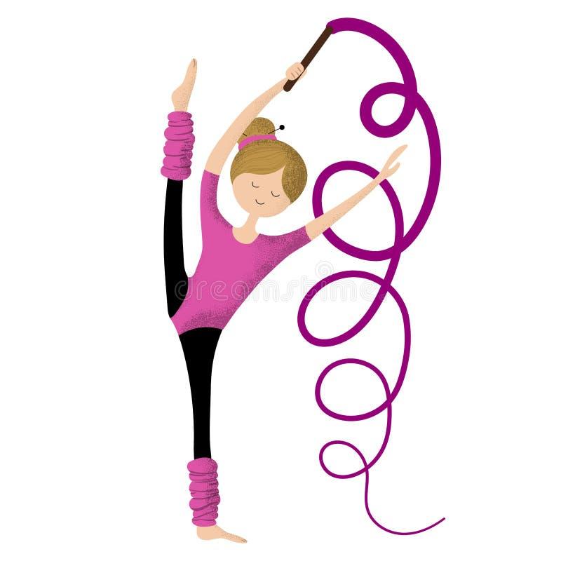 turchese della donna del cerchio di ginnastica ritmica