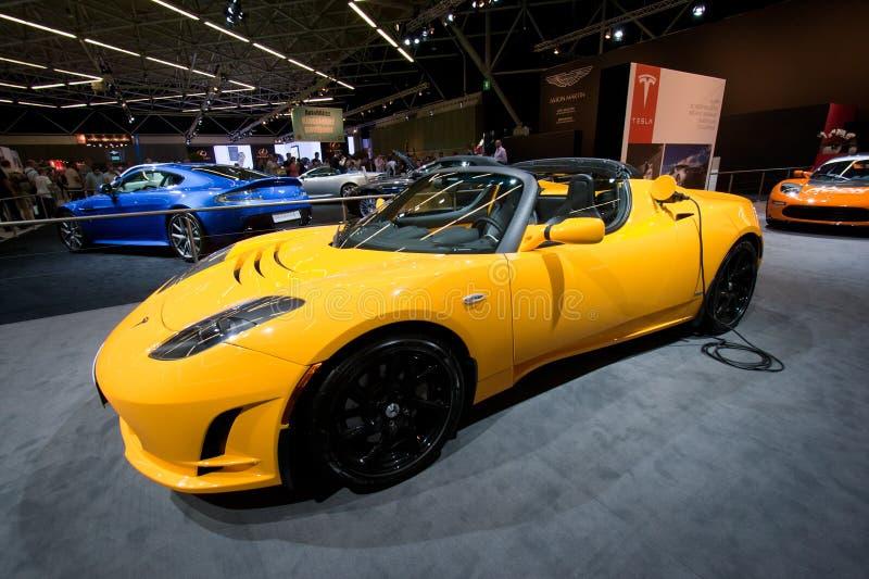 Sport del Roadster di Tesla immagine stock