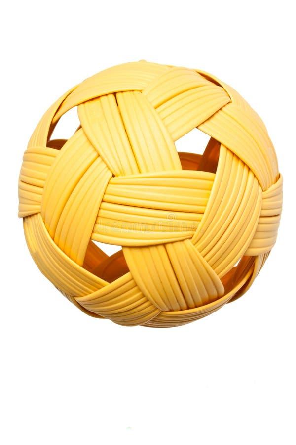 Sport dell'asiatico della sfera del takraw di Sepak immagini stock