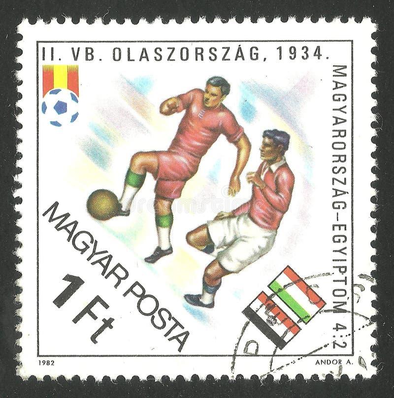 Sport dell'Ungheria, bandiere, calcio fotografia stock