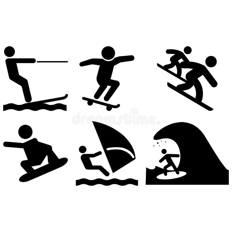 Sport deski ustawiać ilustracja wektor