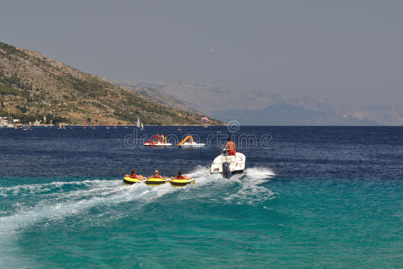 Sport di acqua, tubatura fotografia stock libera da diritti