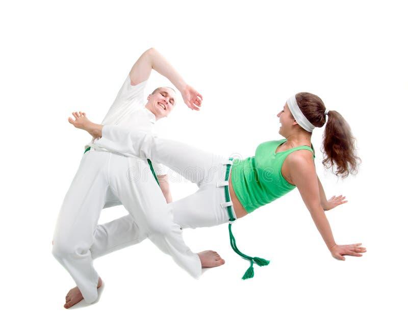 Sport di contatto. Capoeira. fotografia stock