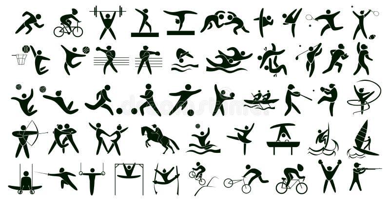 Sport di estate fissati illustrazione vettoriale