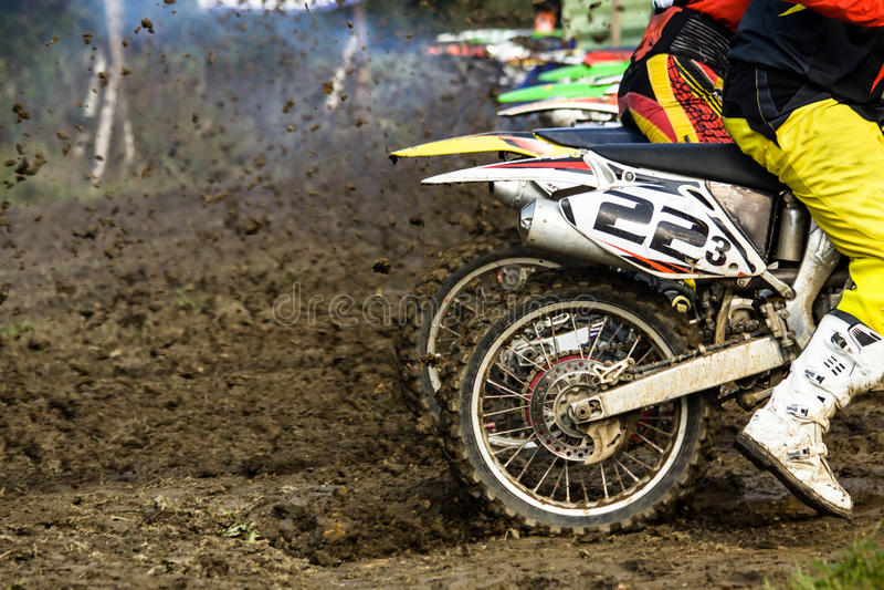 Sport di estremo di motocross immagini stock
