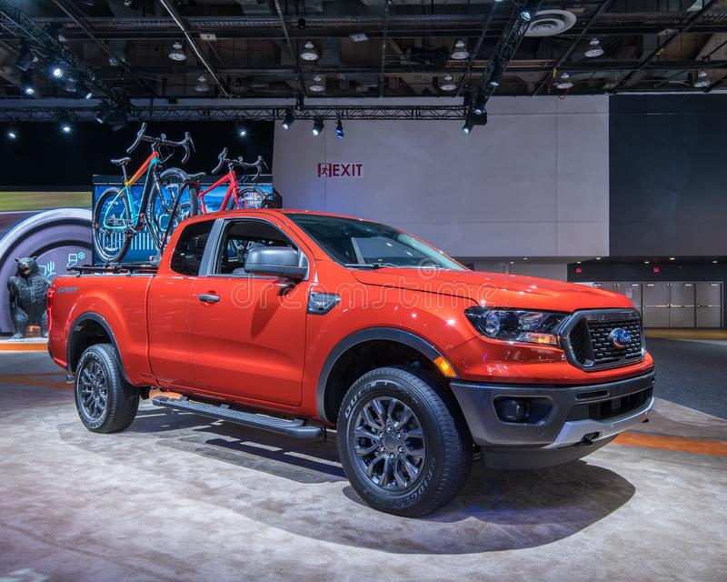 Sport 2019 di Ford Ranger XLT fotografie stock libere da diritti