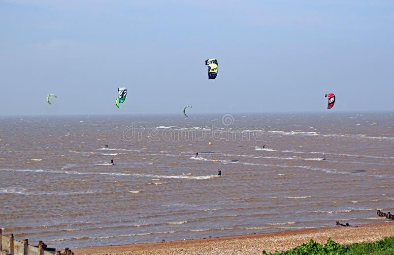 Sport di Kitesurfing fotografia stock libera da diritti