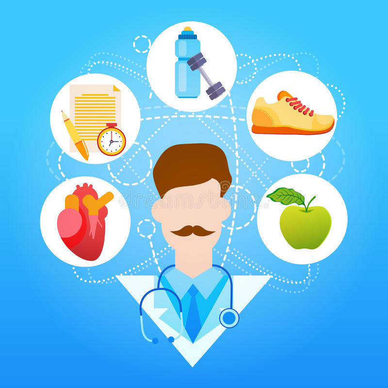 Sport di medico Healthy Lifestyle Vitamins royalty illustrazione gratis