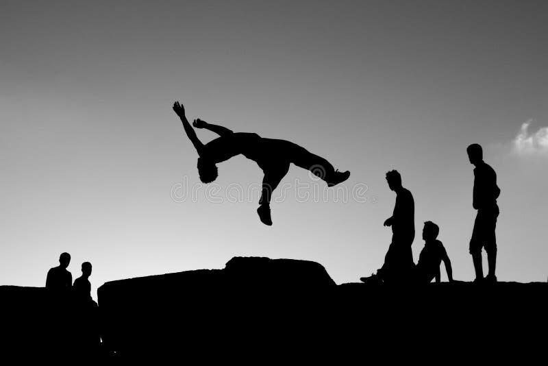 Sport di Parkour fotografie stock libere da diritti