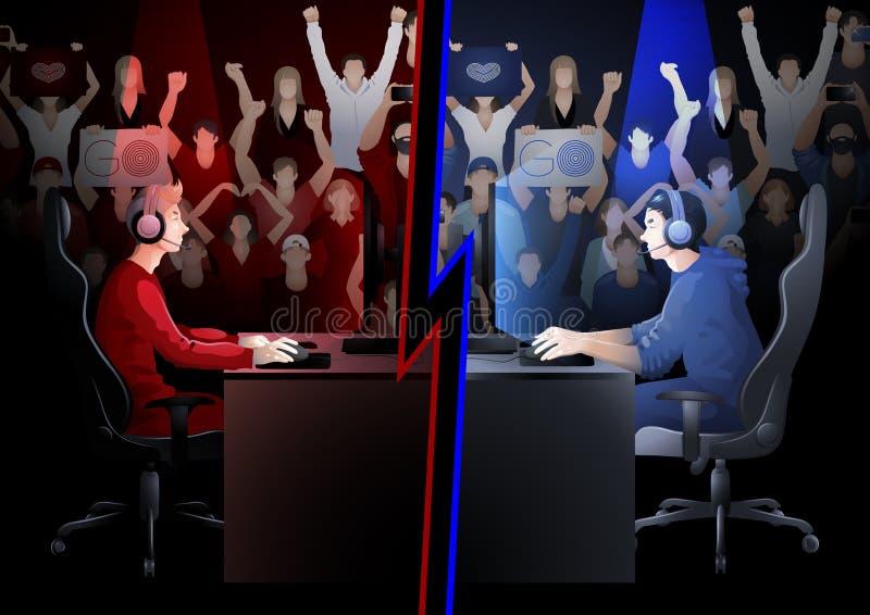 Sport di squadra cyber illustrazione di stock