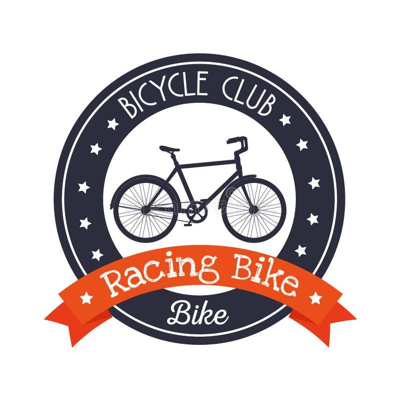 Sport di stile di vita del club dell'emblema della bicicletta illustrazione di stock