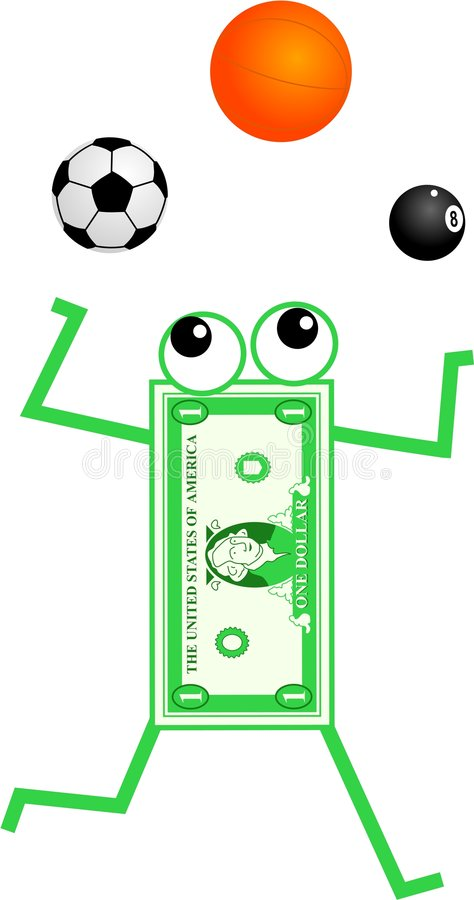Download Sport dollar stock illustration. Image of currency, games - 6983960