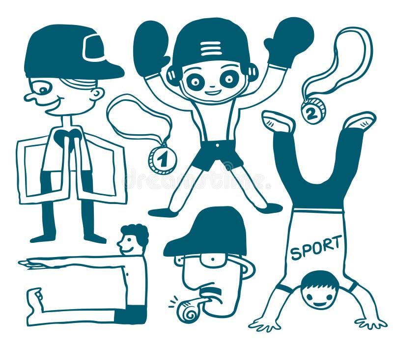 Sport Doodles Royalty Free Stock Photos