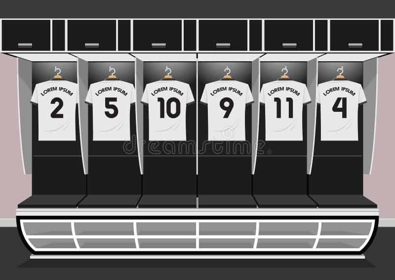 Sport du football d'équipe de vestiaires du football illustration libre de droits