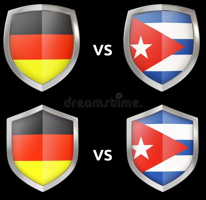 Sport e confronto militare fra i paesi royalty illustrazione gratis