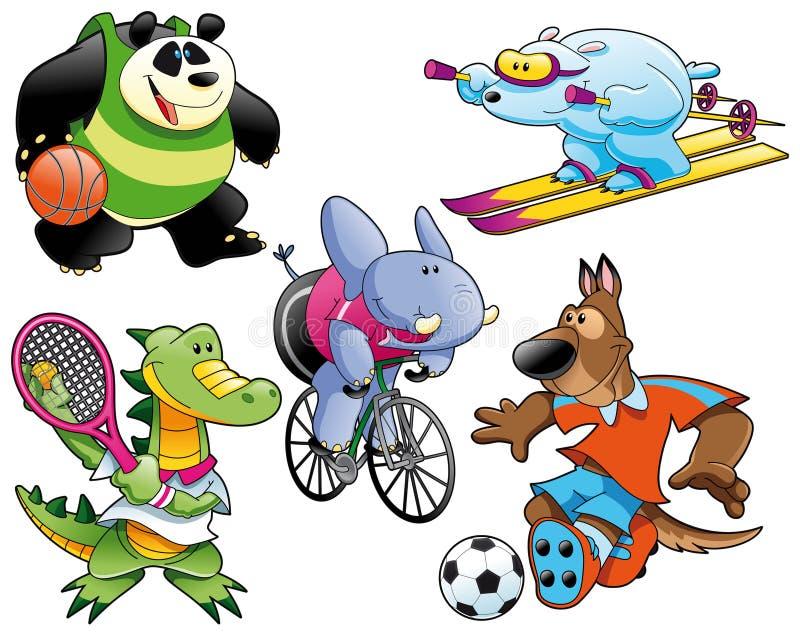 Sport ed animale royalty illustrazione gratis