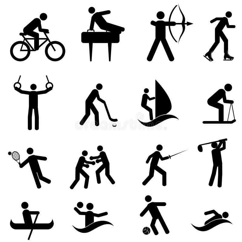 Sport ed icone atletiche illustrazione vettoriale