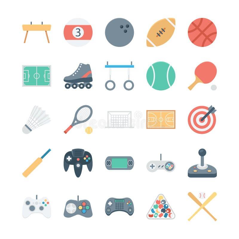 Sport ed icone 1 di vettore colorate giochi illustrazione di stock