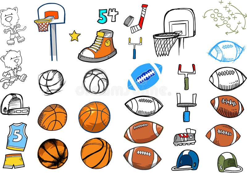 Sport Elements Set stock photography