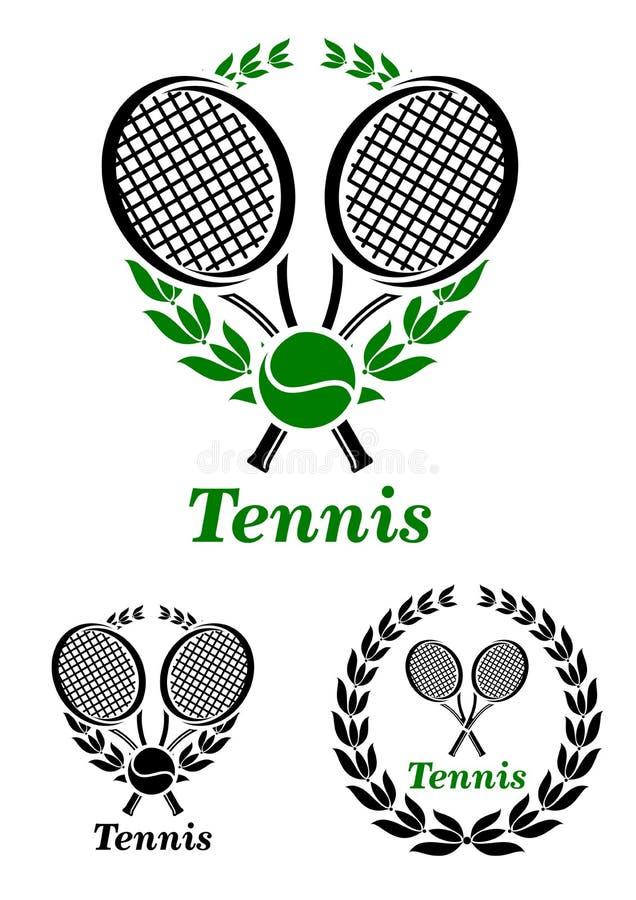 Sport- Emblem oder Logo des Tennis stock abbildung