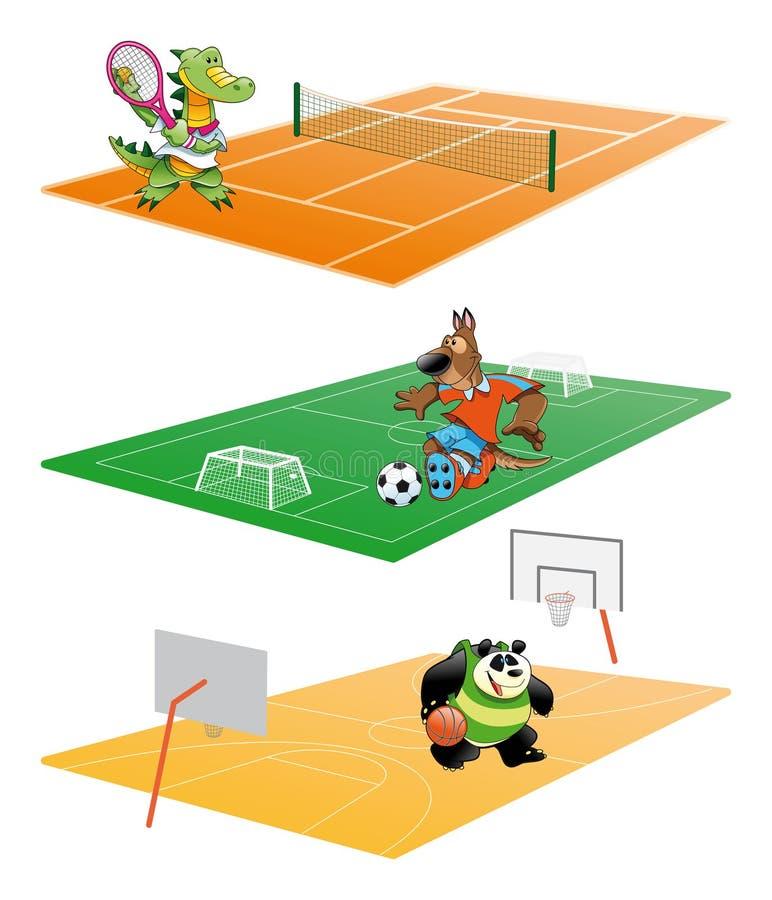 Download Sport en Dier vector illustratie. Illustratie bestaande uit karakter - 10930798