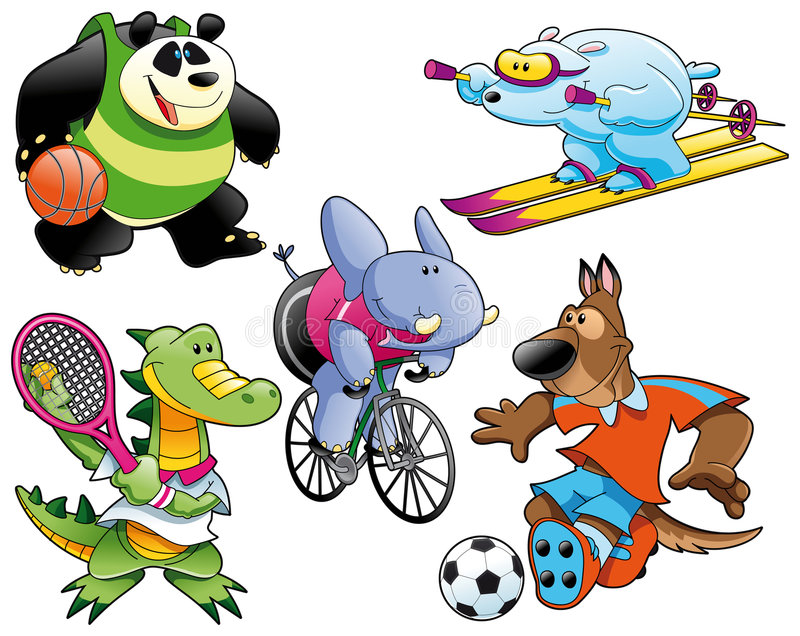 Sport en Dier royalty-vrije illustratie