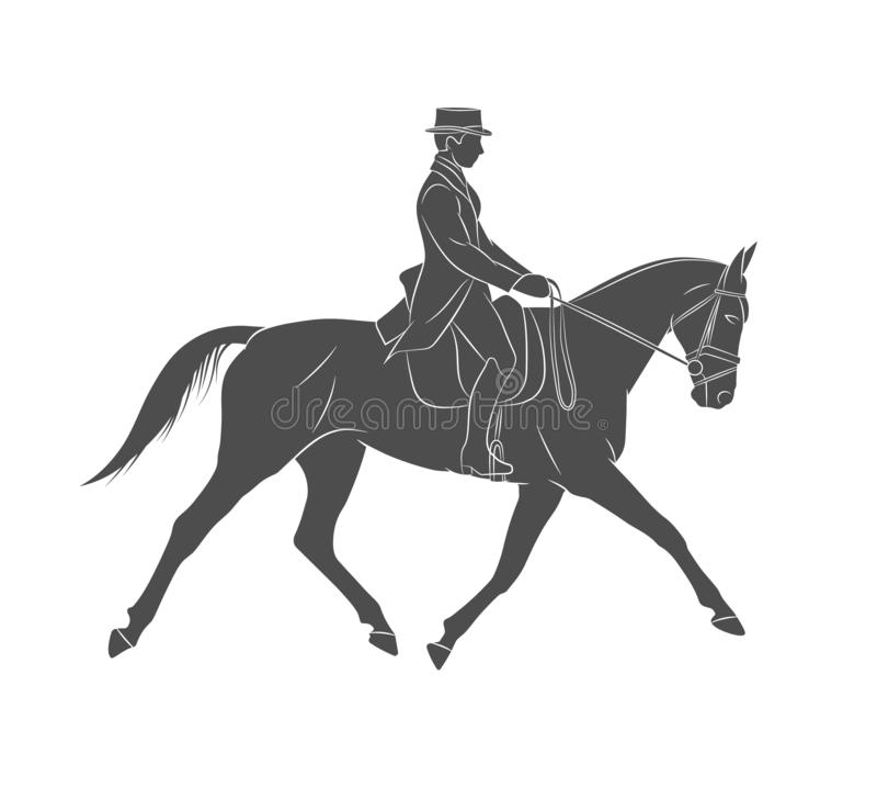 Sport equestre Puleggia tenditrice in cavallo da equitazione uniforme dressage royalty illustrazione gratis