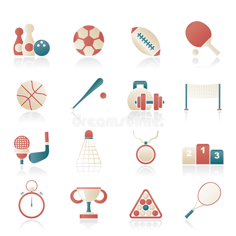 Download Sport equipment icons stock vector. Image of competition - 29226935