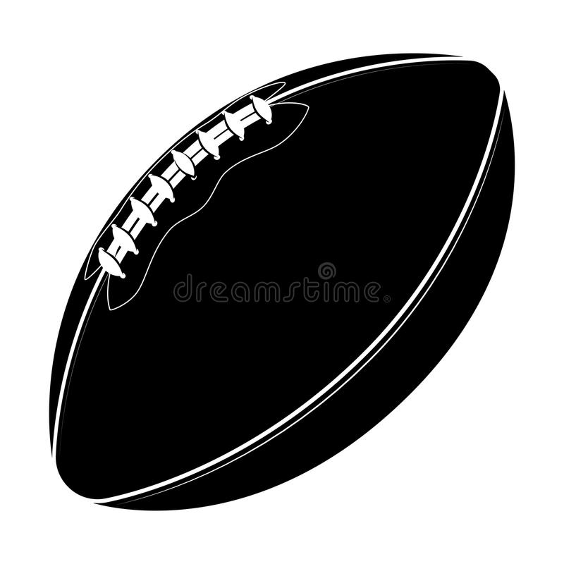Sport equipment. Rugby ball. American football ball isolated on a white background. Sport game stock illustration
