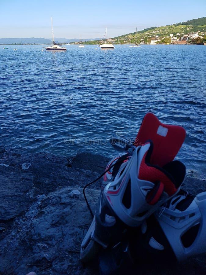 Sport et lac images libres de droits