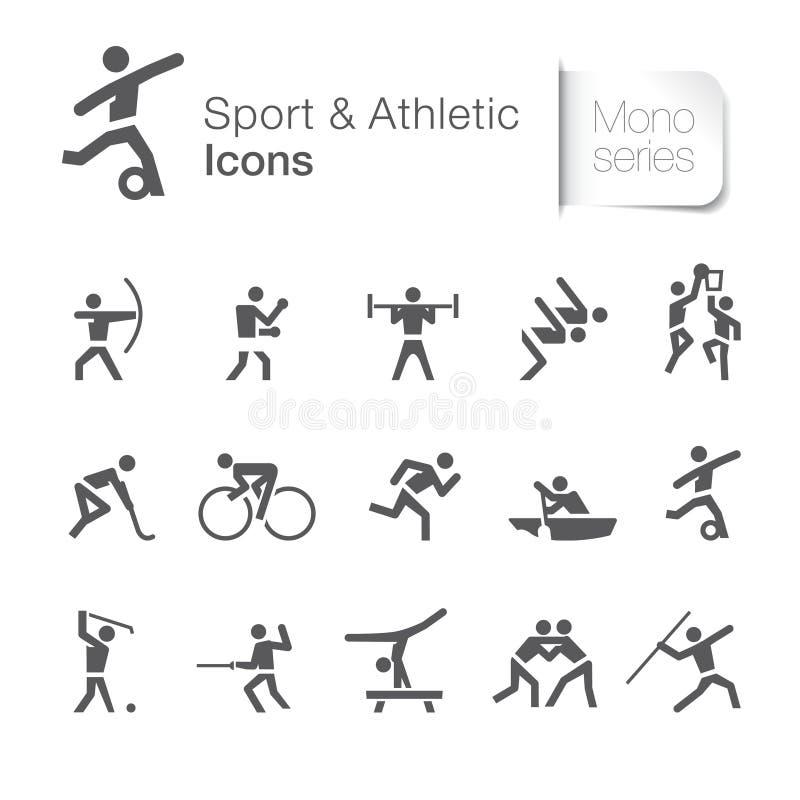 Sport et pictogramme relatif sportif illustration libre de droits