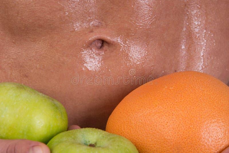 Sport et régime Type et fruits sportifs Consommation saine images stock