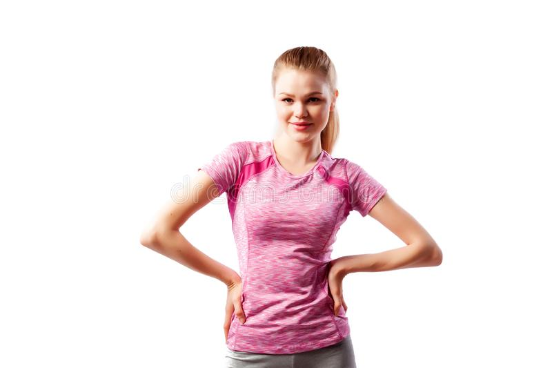 Sport exercises on a white background royalty free stock photography