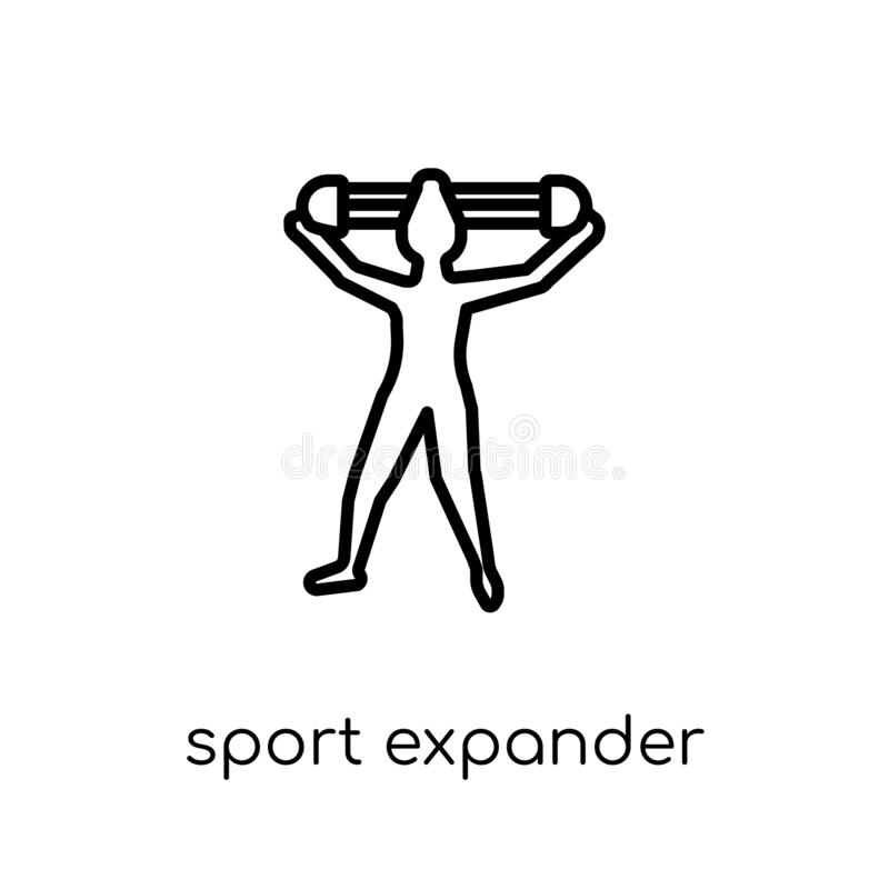 sport Expander icon. Trendy modern flat linear vector sport Expander icon on white background from thin line Gym and fitness coll vector illustration