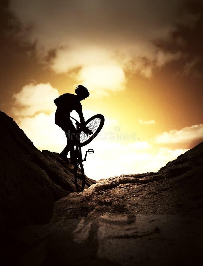 Sport extrême de vélo photographie stock
