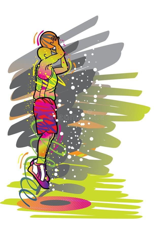 sport för basketspelareserie vektor illustrationer