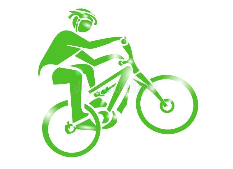 sport för cykelsymbolsberg royaltyfri illustrationer