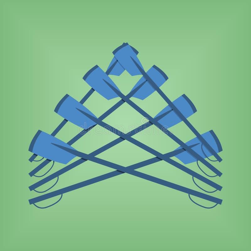 Sport för färg för klubba för rodd för vektorbildlogo royaltyfri illustrationer