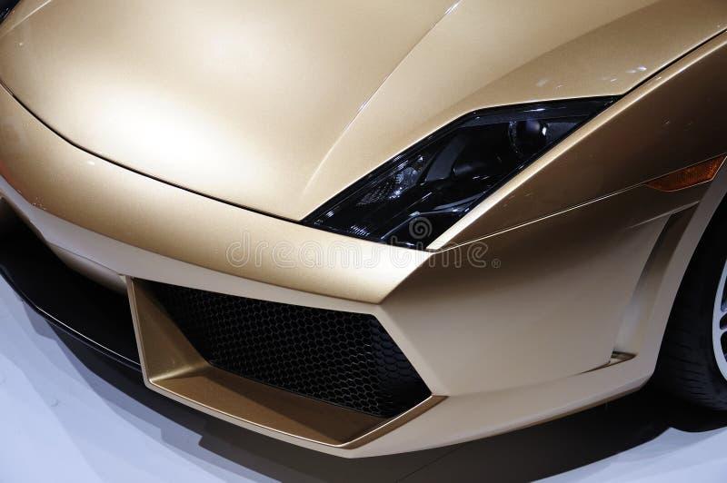 sport för lampa för bilframsidalamborghini royaltyfria foton