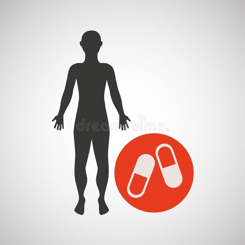Sport för medicin för konturmankondition royaltyfri illustrationer