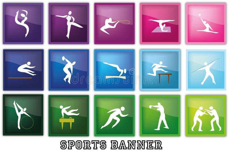 Sport-Fahne stock abbildung