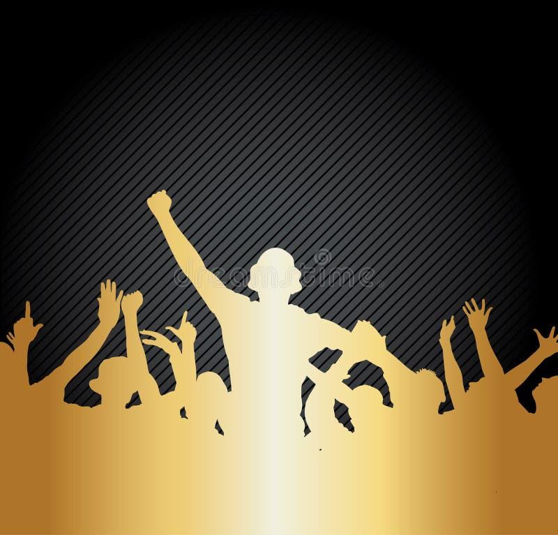 Sport Fans royalty free illustration
