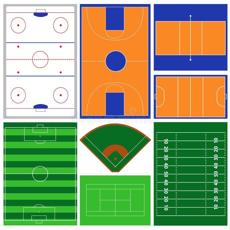 Sport-Felder stock abbildung