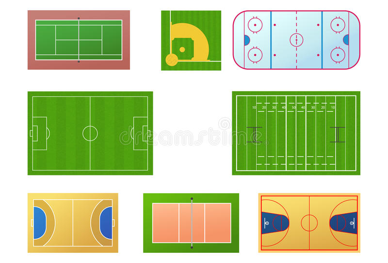 Download Sport fields stock vector. Image of pitch, handball, game - 12919952